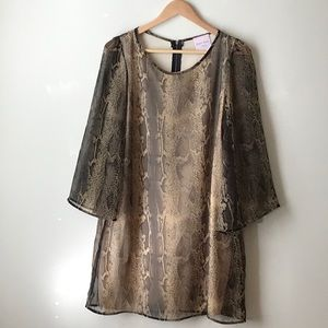 Romeo and Juliet Couture python print dress